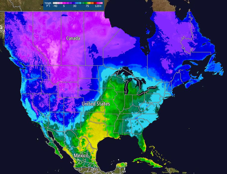 North America Weather Map