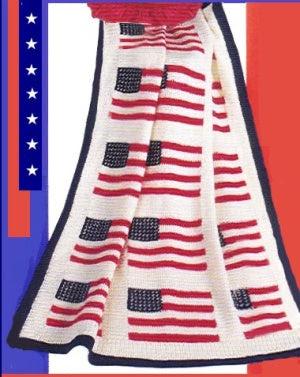 American Flag Throw Pattern Free Crochet Pattern