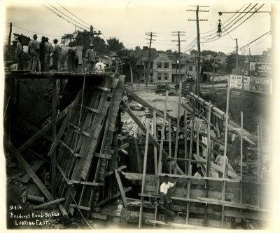 Construction of the new Frederick Road Bridge, Baltimore