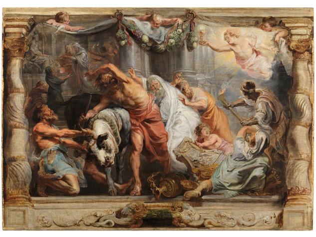 Peter Paul Rubens, The Victory of the Eucharist over Idolatry, c. 1625, oil on panel, Museo Nacional del Prado, Madrid.