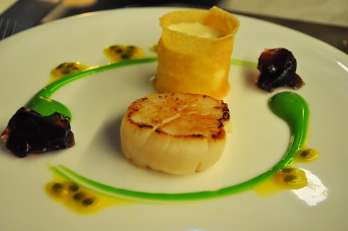 scallops and sauces