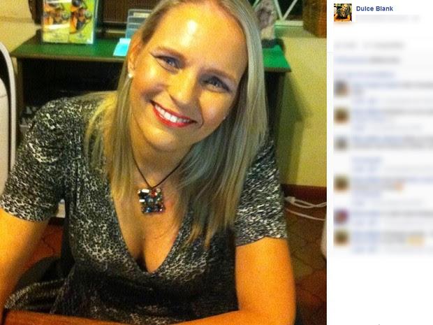 A brasileira Dulce Blank, sobrevivente de um naufrágio no Mar do Caribe (Foto: Reprodução/Facebook)