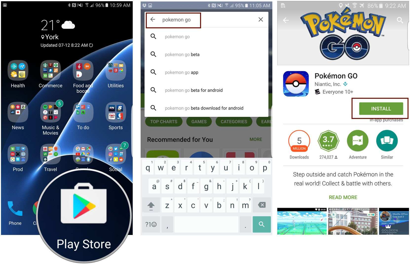 How to download and install Pokémon Go