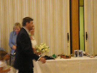Megan walking down the isle with her dad
