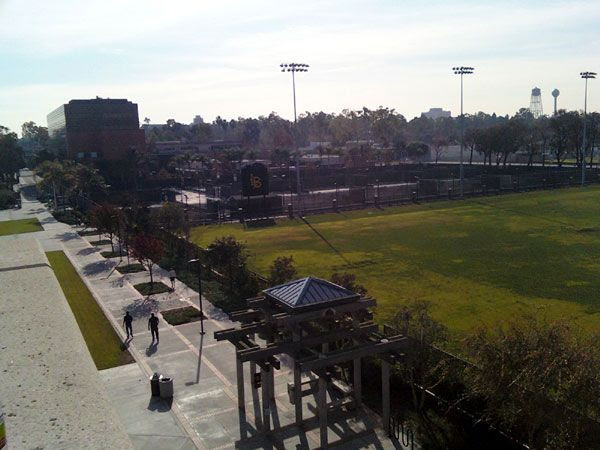 A pic I took of the lower campus at Long Beach State, on January 5, 2013.