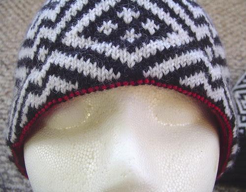Sage's hat and mitten set - hat brim