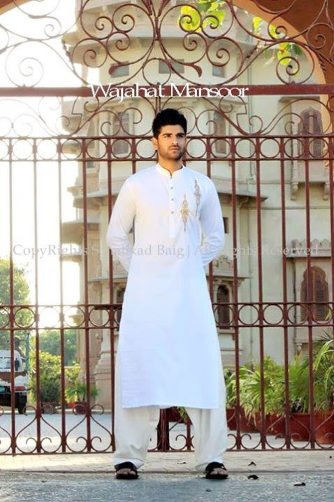 Wajahat-Mansoor-Latest-Summer-Eid-Kurta-Pajama-Salwar-Kameez-Collection-2013-Mens-Boys-8