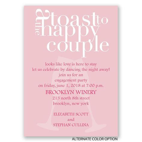 A Toast! Mini Engagement Party Invitation   Invitations By