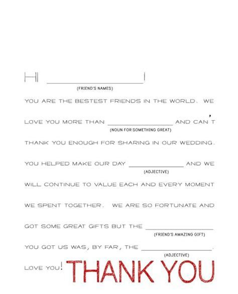 Wedding Gift Thank You Note Wording   Wedding Images