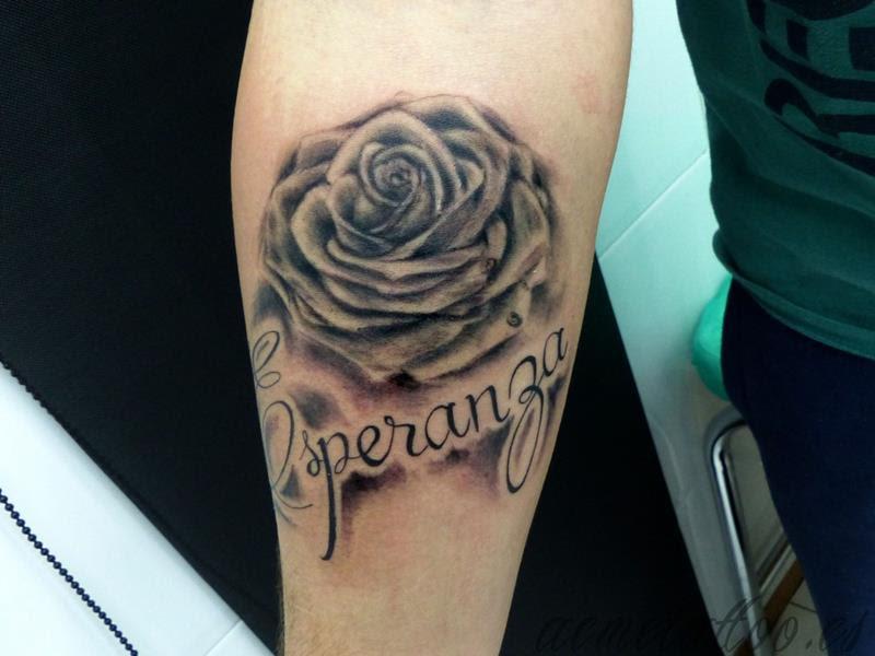 Esperanza Rosa Gota Agua Acme Tattoo Tatuaje Tatuajes Online