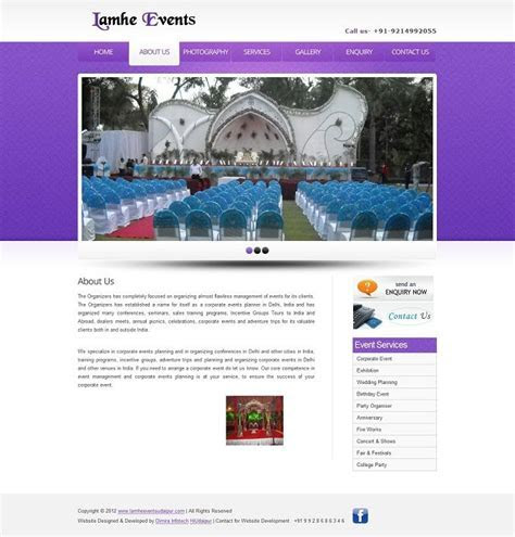2 free event management website templates download