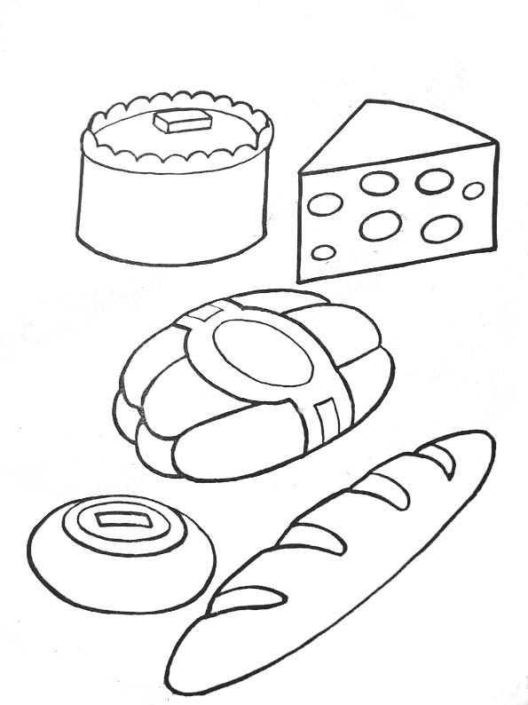 Coloriage Pain Fromage
