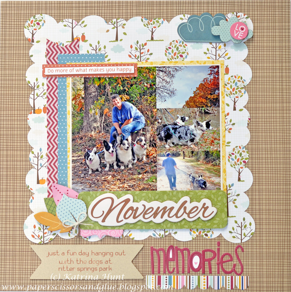 November Memories-A Not Perfect Layout
