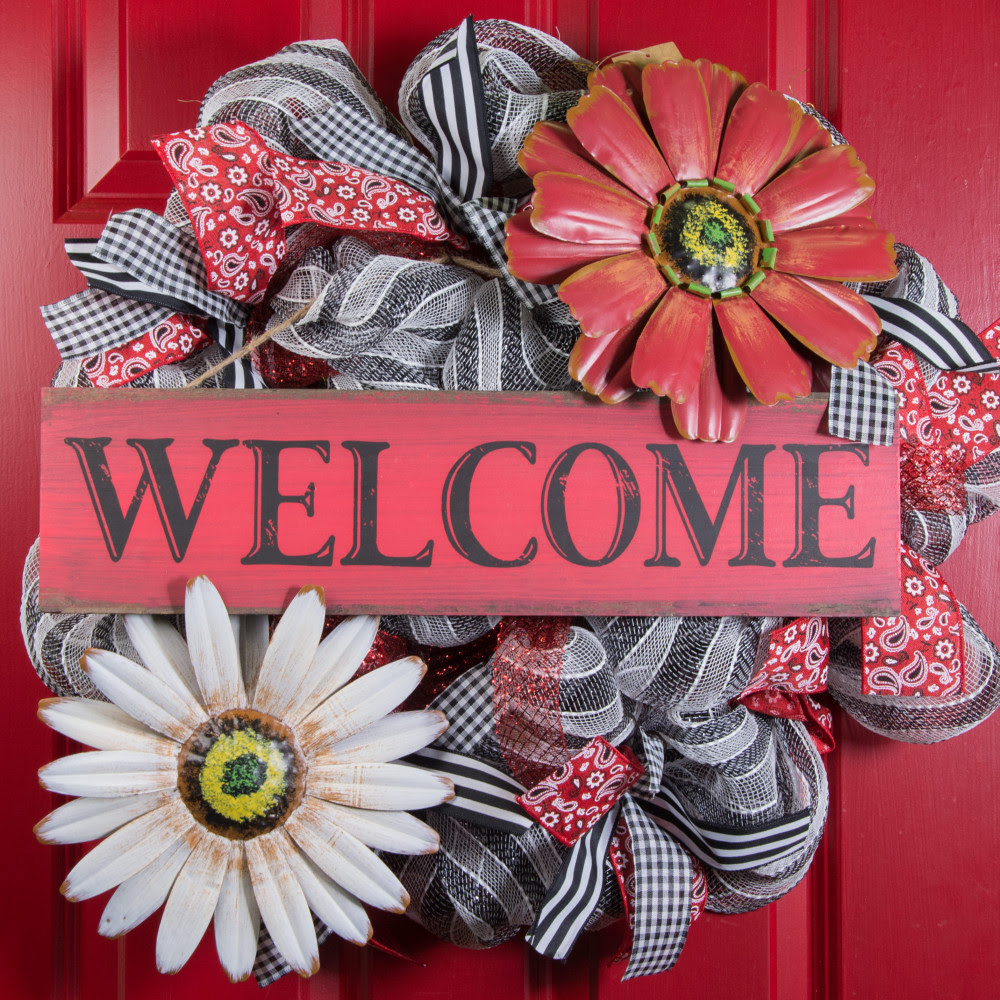 """10"""" Metal Flower Wall Decor: Red OSW101962 - CraftOutlet.com"""