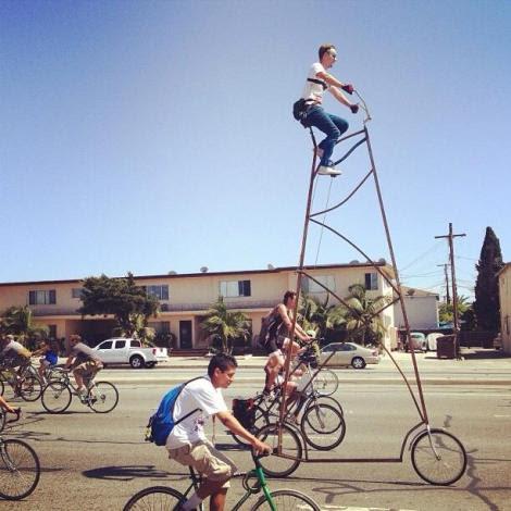 tall bike at Ciclavia