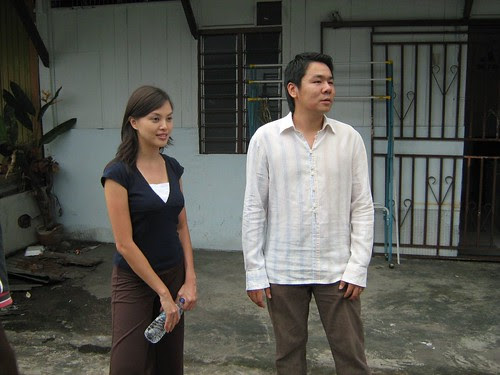 Ms. Carol (Carmen Soo) with boyfriend Billy (Wai Loon)