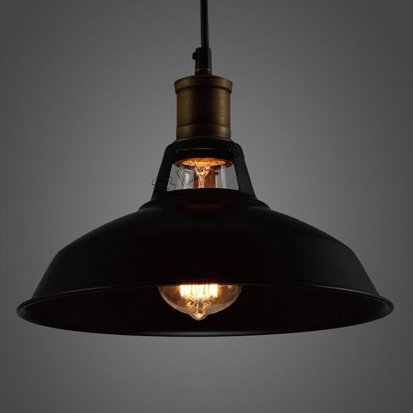 Industrial Retro Vintage Black Pendant Lamp Kitchen Bar Hanging Ceiling Light  eBay