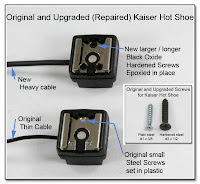 HS1002 (PJ1077): Original and Upgraded (Repaired) Kaiser Hot Shoe