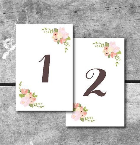 Best 25  Printable wedding table numbers ideas on