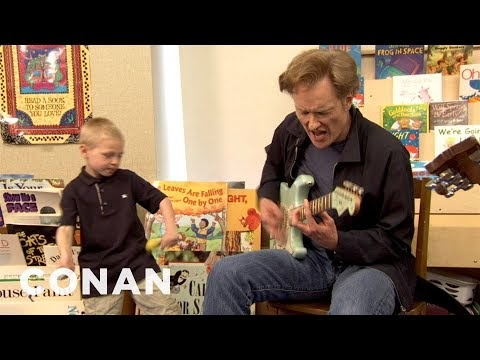 As mentioned in one of my earlier blog posts, Conan is easily my favourite late night host of all time. In this clip, he went to an elementary s