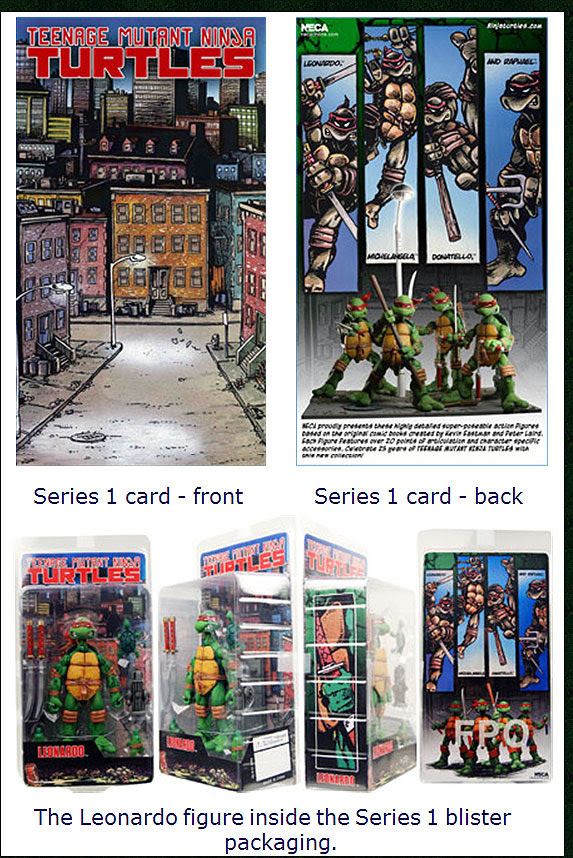 NECA TMNT // Leonardo - Card & Blister (small view)