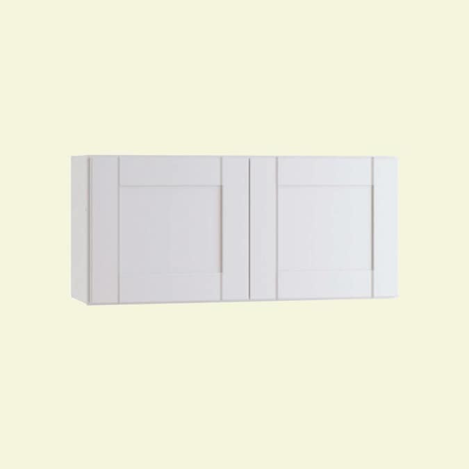 Ideal Cabinetry 24 In W X 12 In H X 12 In D Vinyl White Birch Door Wall Semi Custom Cabinet In The Semi Custom Kitchen Cabinets Department At Lowes Com