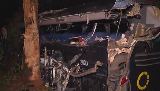 Todos os mortos estavam no ônibus | Foto: Reprodução/TV Santa Cruz