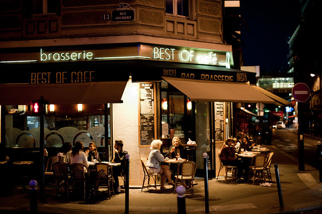 Paris - Brasserie at Night