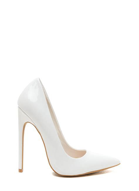 White Thick Heels   Is Heel
