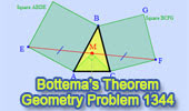 Bottema's Theorem: Triangle and Squares.
