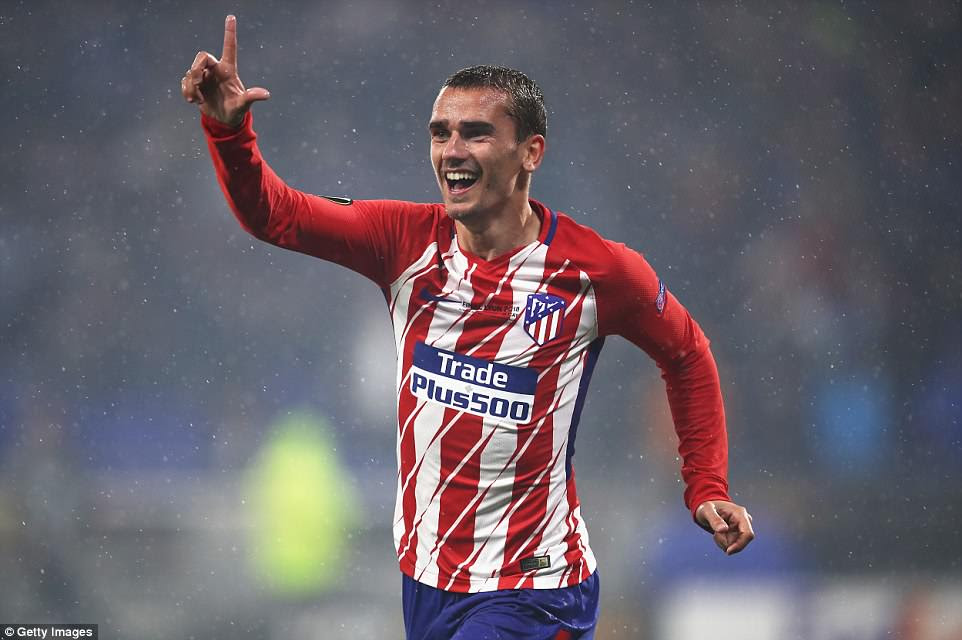 Griezmann was the inspiration for Atletico  as he scored either side of half-time to seal a famous Europa League win