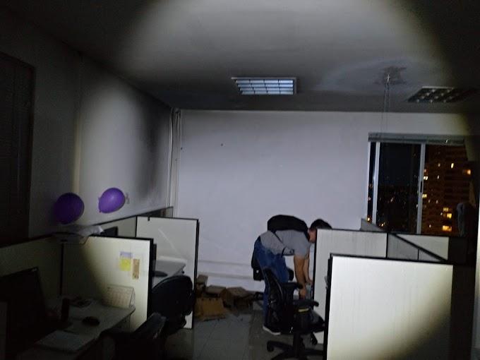 SEM CONEXÃO; Celular esquecido carregando provoca incêndio em prédio comercial