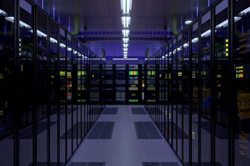 Cloud hosting servers room