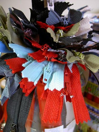 Bouquet of zippers