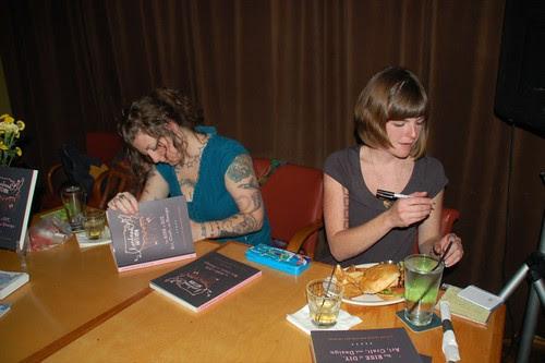 Faythe & Cortney signing copies of Handmade Nation