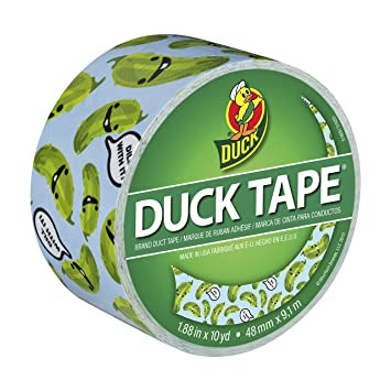 Duck Brand 282016 Dill With It Printed Duct Tape, 1.88 Inches x 10 Yards, Single Roll