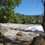 Shot of the main beach beside Montezuma