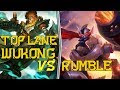 League of legends  Wukong vs Rumble Top lane S8 2018 PARTE 1