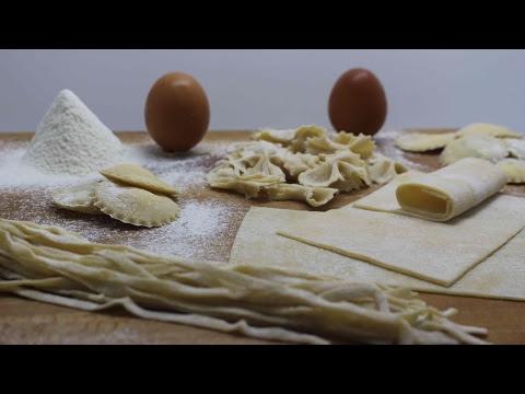 Pasta fresca con solo dos ingredientes, espaguetis, raviolis, tallarines...