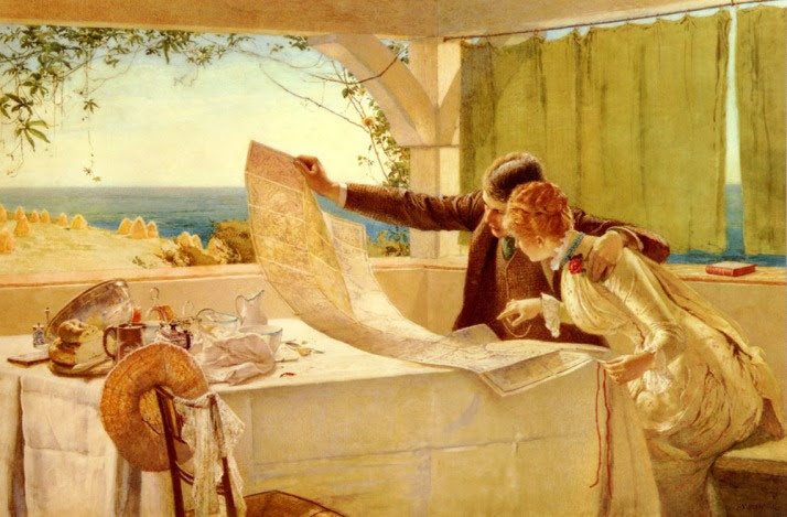 """Where Next,"" painting by Edward Frederick Brewtnall (1846 - 1902). Public domain."