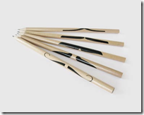 mustached pencils