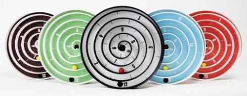 colorful base spiral clock