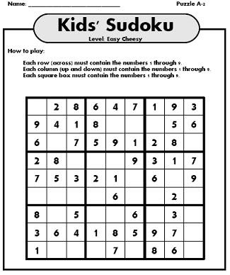 Agile image with sudoku printable for kids