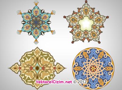 Vektörel çizim Osmanlı Desenleri