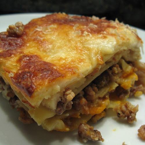 Root Vegetable & Sausage Lasagna