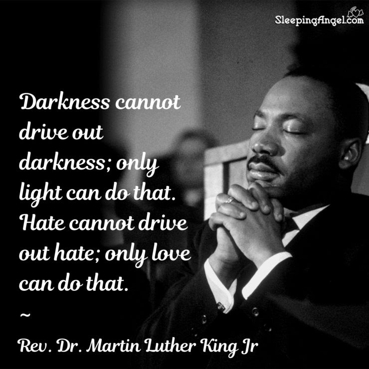 Rev Dr Martin Luther King Jr Quote Sleeping Angel