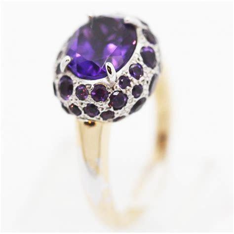 Pomellato Tabou Ring Purple Amethyst Gold Silver Italian