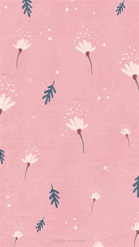 wallpaper dainty falling flowers