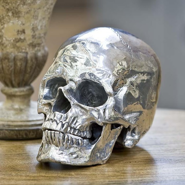 Regina Andrew Metal Skull - traditional - accessories and decor ...