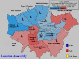 Forecast for London (2nd Place, Coloured By Percentage Lead Over 3rd)